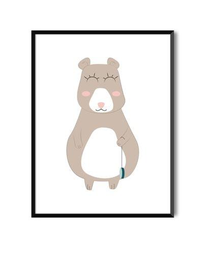 Lámina de oso