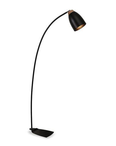 lampara de pie negra