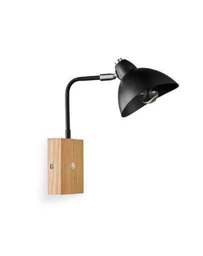 lampara de pared madera