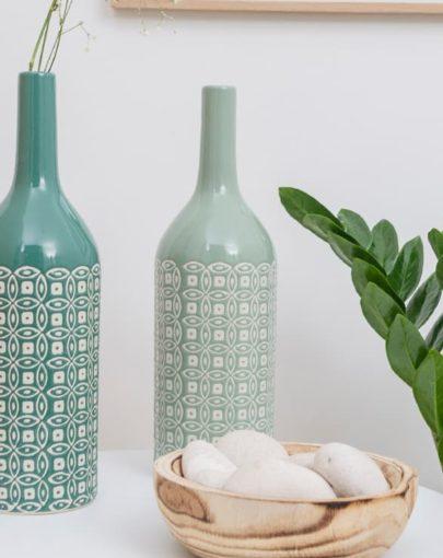 estancia jarron decorativo de porcelana MARINHE-1