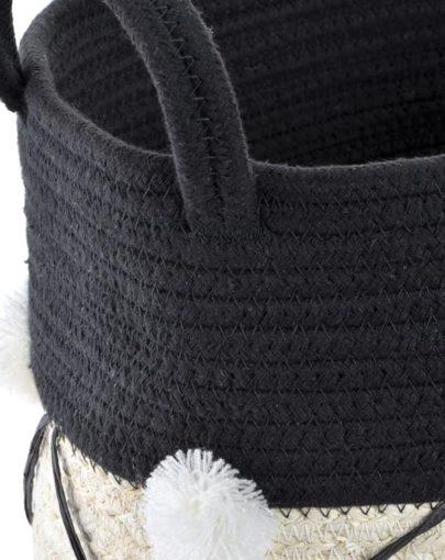 cesta negra y blanca