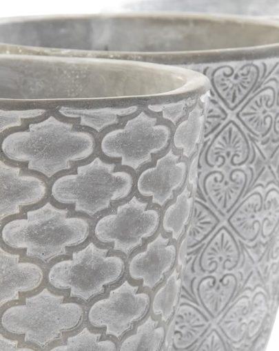 Maceteros en gris Aloa y Fioners