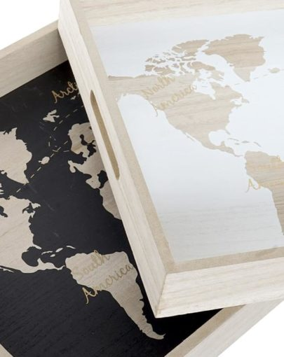 bandeja mapa blanco