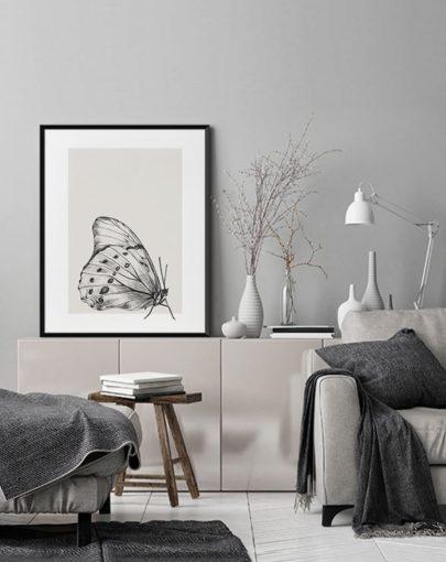 Lámina Butterfly 2 de la colección de láminas decorativas de pared Butterfly de decorando una estancia