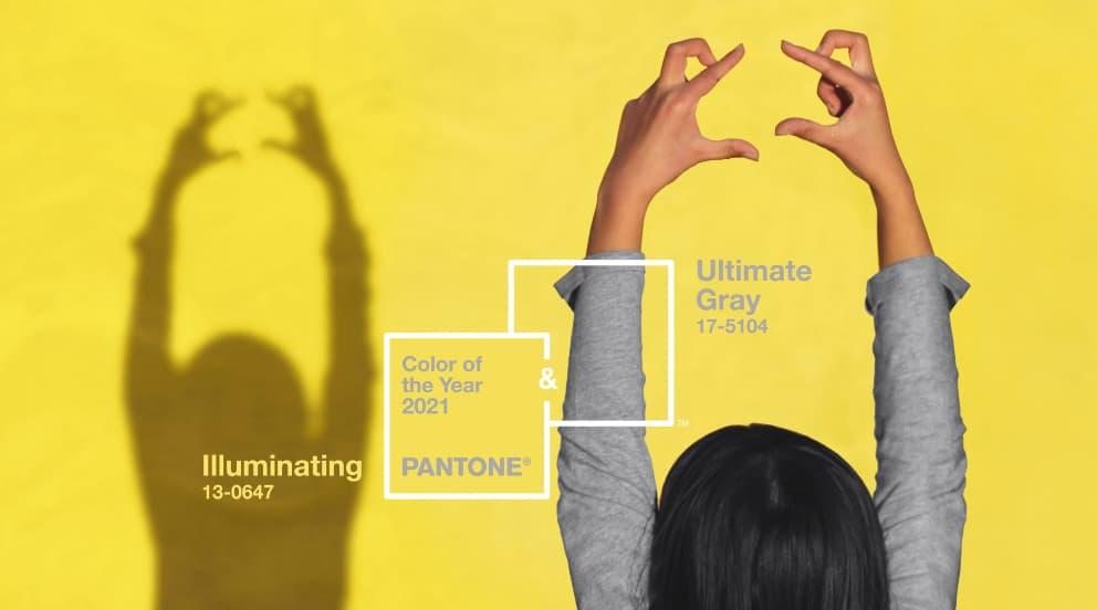 Imagen de los colores del año 2021 Pantone para el artículo de 4 ideas para decorar con amarillo y gris