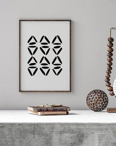 Láminas para enmarcar. Colección de láminas decorativas estilo Boho Chic Etnic. Lámina decorativa Danza en estancia