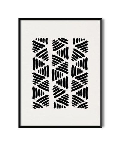 Láminas para enmarcar. Colección de láminas decorativas estilo Boho Chic Etnic. Lámina decorativa Labor con marco negro