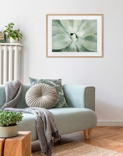 Green Lines 1 es una de las láminas de plantas de la colección Green Lines de Miluka - lámina fotográfica en estancia