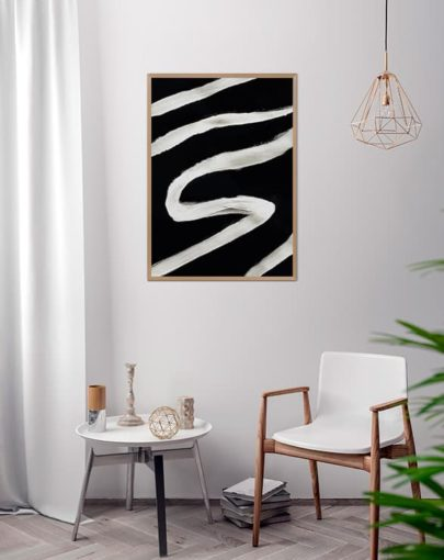 Lámina de la colección Savage: Cebra. Lámina colocada en estancia