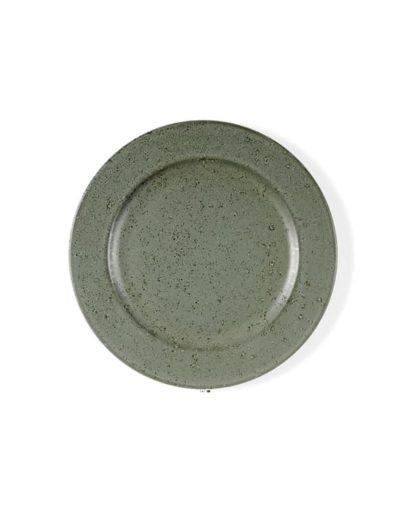 Plato de postre Stone Verde, uno de los platos estilo nórdico de Miluka