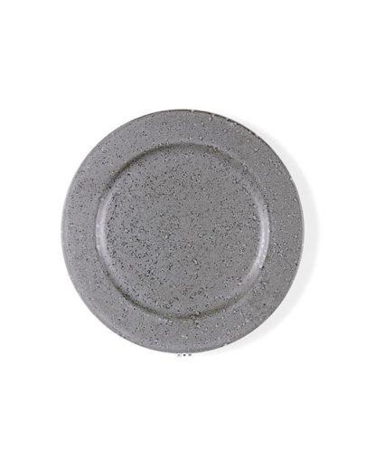Plato de postre Stone Gris, uno de los platos estilo nórdico de Miluka