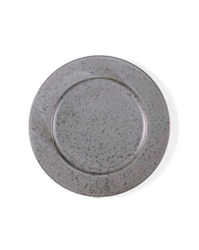 Plato llano Stone Gris, uno de los platos estilo nórdico de Miluka