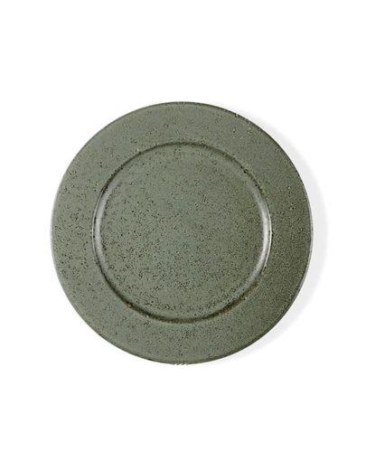 Plato llano Stone Verde, uno de los platos estilo nórdico de Miluka